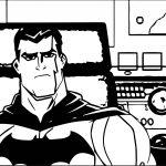 Bruce Wayne Superman Batman Public Enemies Coloring Page