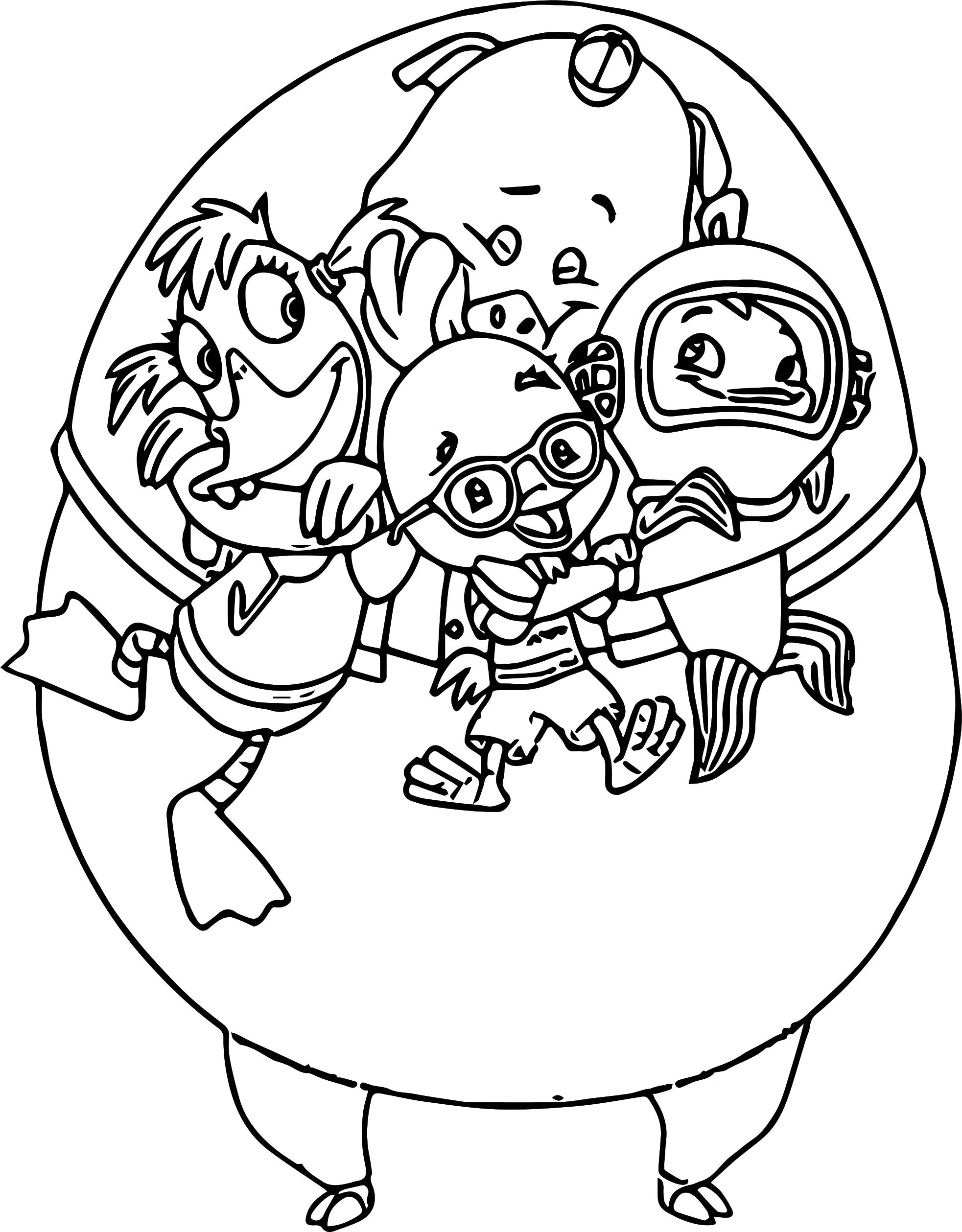 Buck Cluck Little Chick And Friends Love Coloring Page