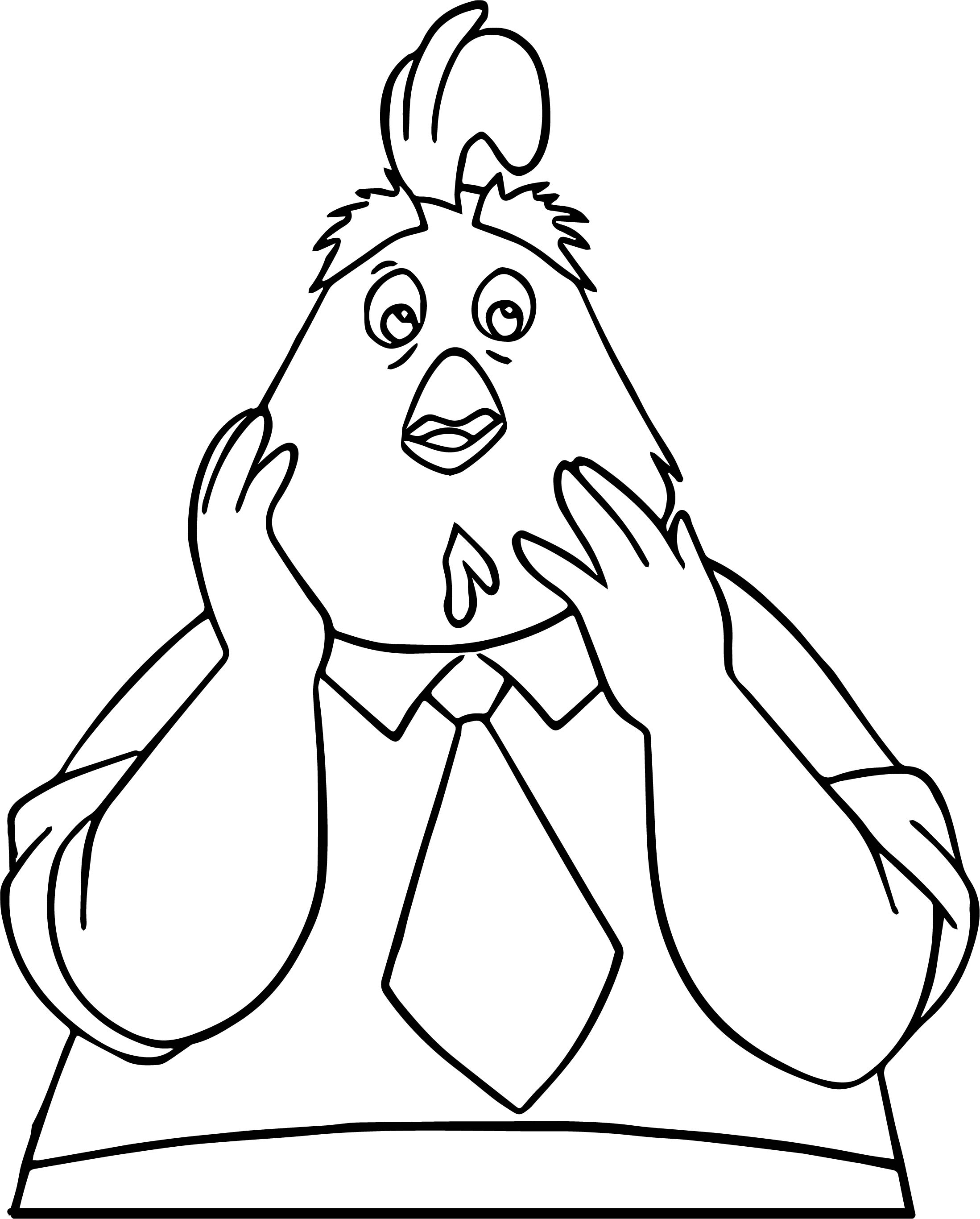 Buck Cluck What Coloring Pages
