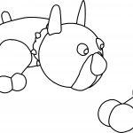Bull Dog Bone Sheet Coloring Page