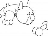Bull Dog Bone Sheet Coloring Page