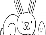 Bunny Find Egg Coloring Page