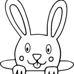 Bunny In Hole Coloring Page