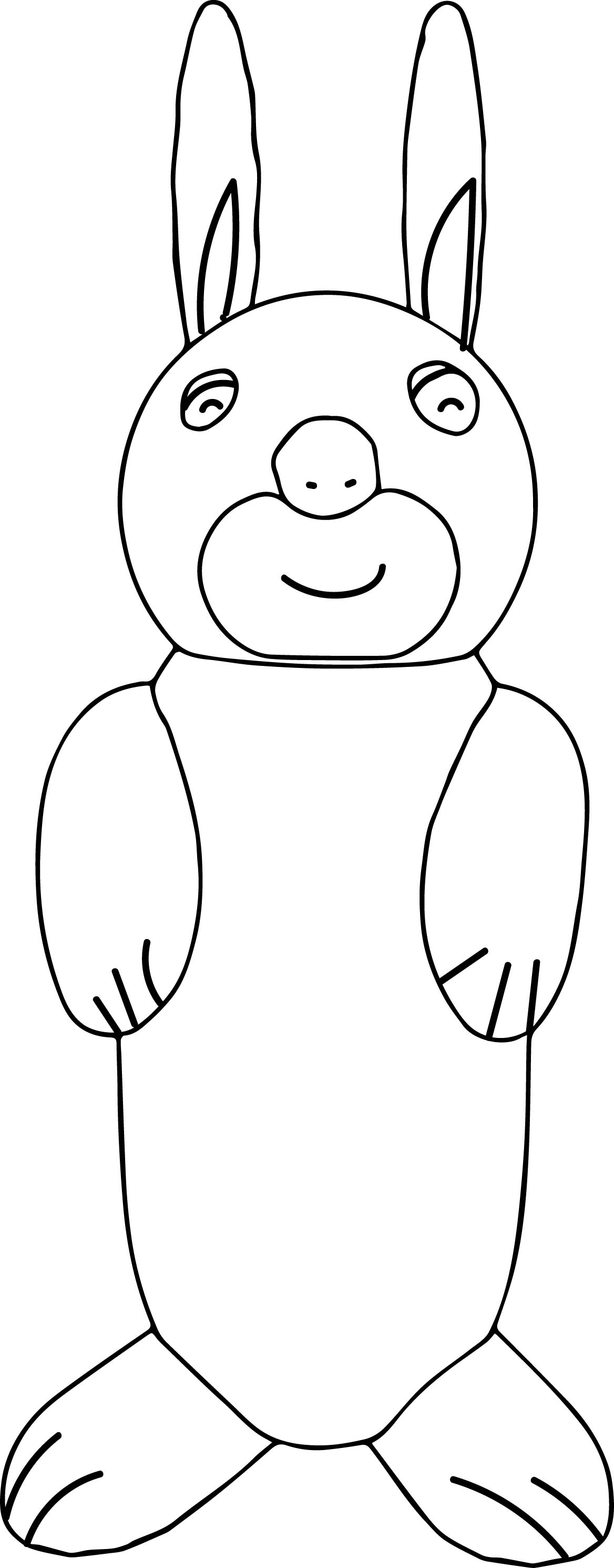 Bunny Standing Coloring Page