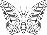 Butterfly Cartoon Funny Coloring Page