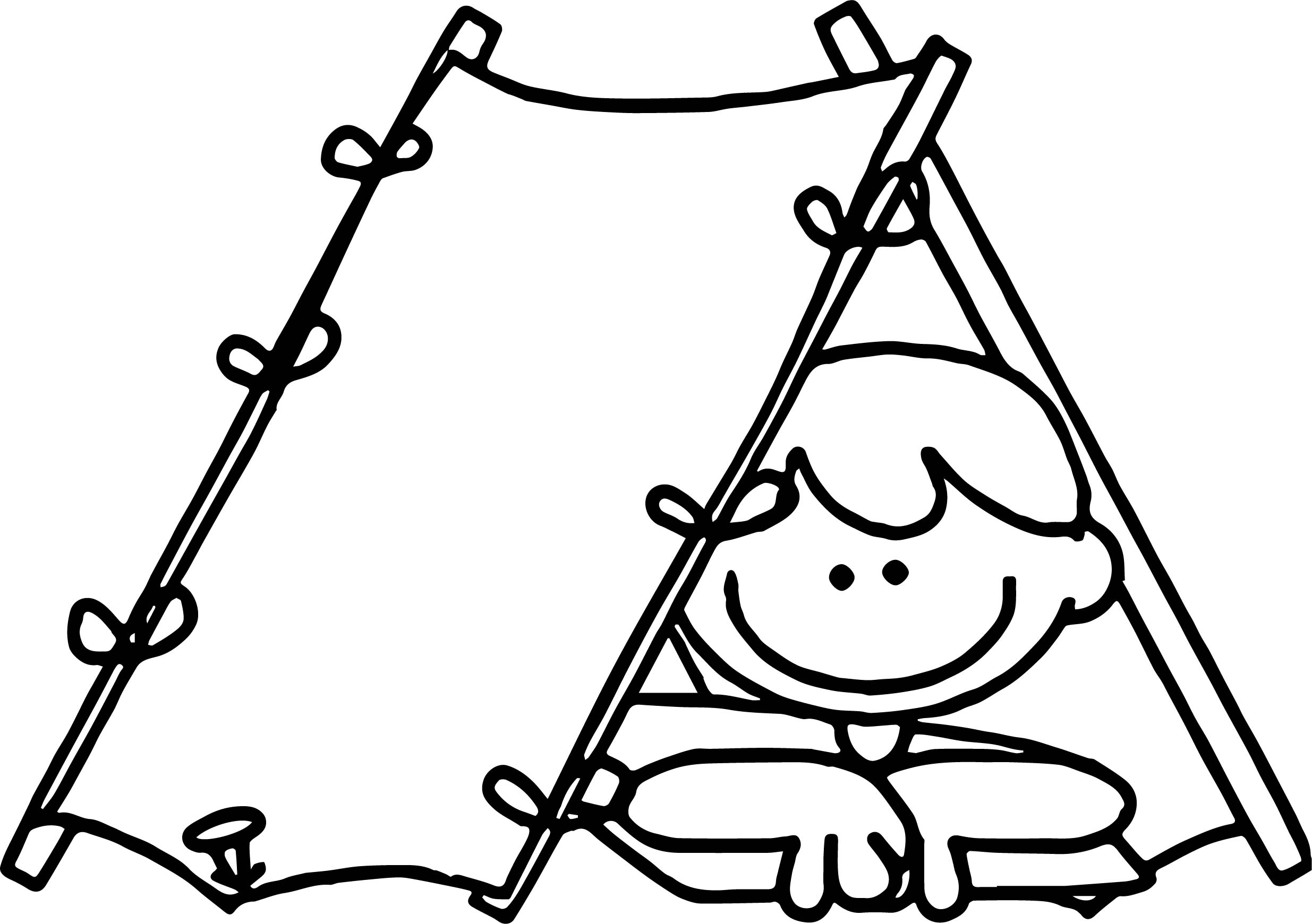 Cabin Camping Coloring Page Wecoloringpage Com