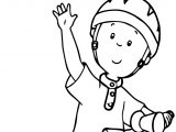 Caillou Bicycle Collection Coloring Page