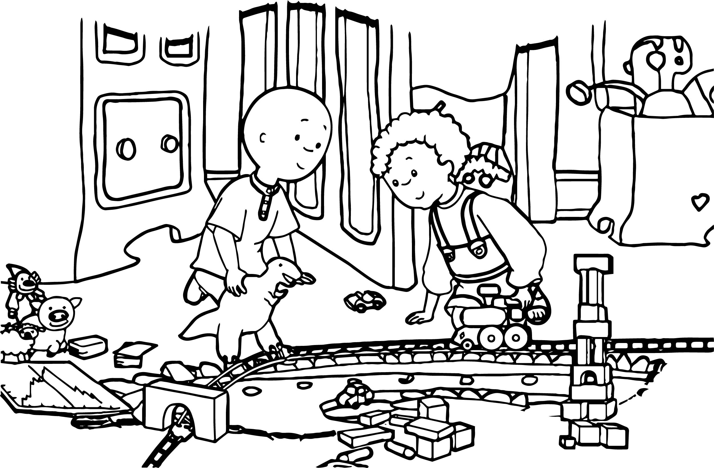 Caillou English Full Caillou Coloring Page
