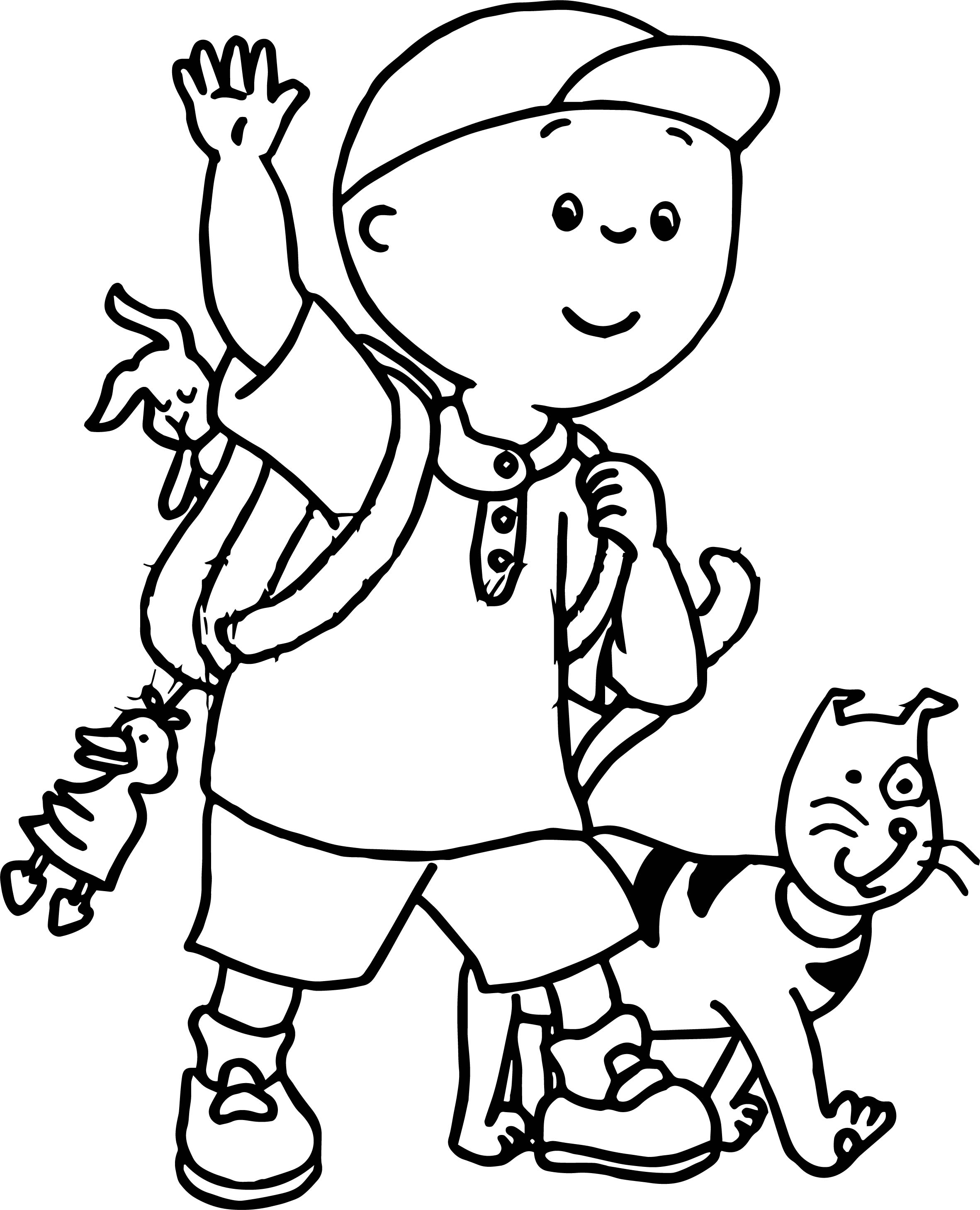 Cute Caillou Coloring Pages Photos - Entry Level Resume Templates ...