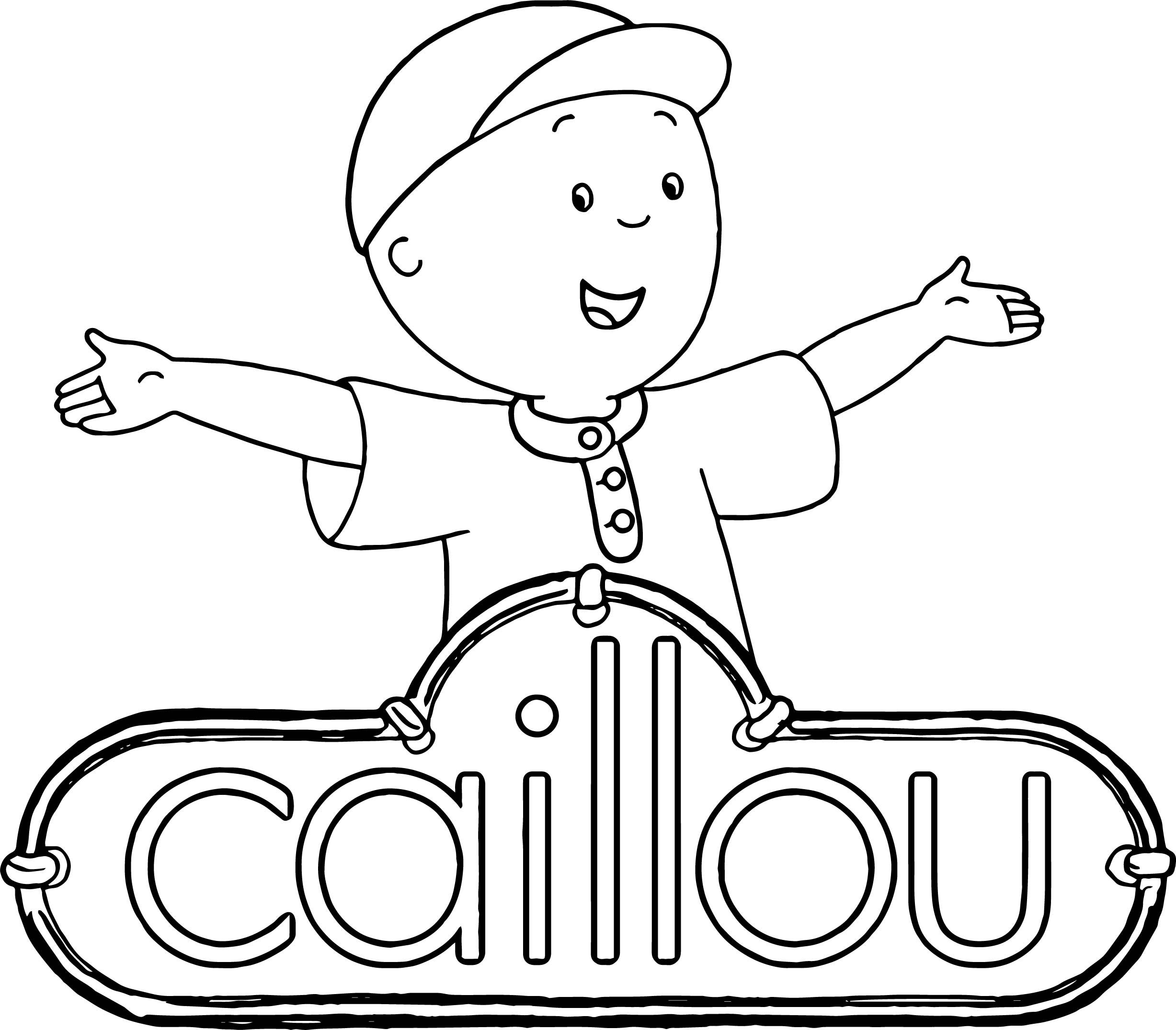 Caillou Logo New Coloring Page