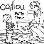 Caillou Potty Time Coloring Page