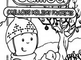 Caillou Snow Coloring Page