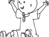 Caillou Staying Joy Coloring Page