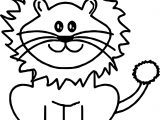 Calm Cute Lion Coloring Page