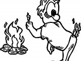 Camp The Man Burning At Back Coloring Page