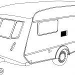 Camper Back Coloring Page
