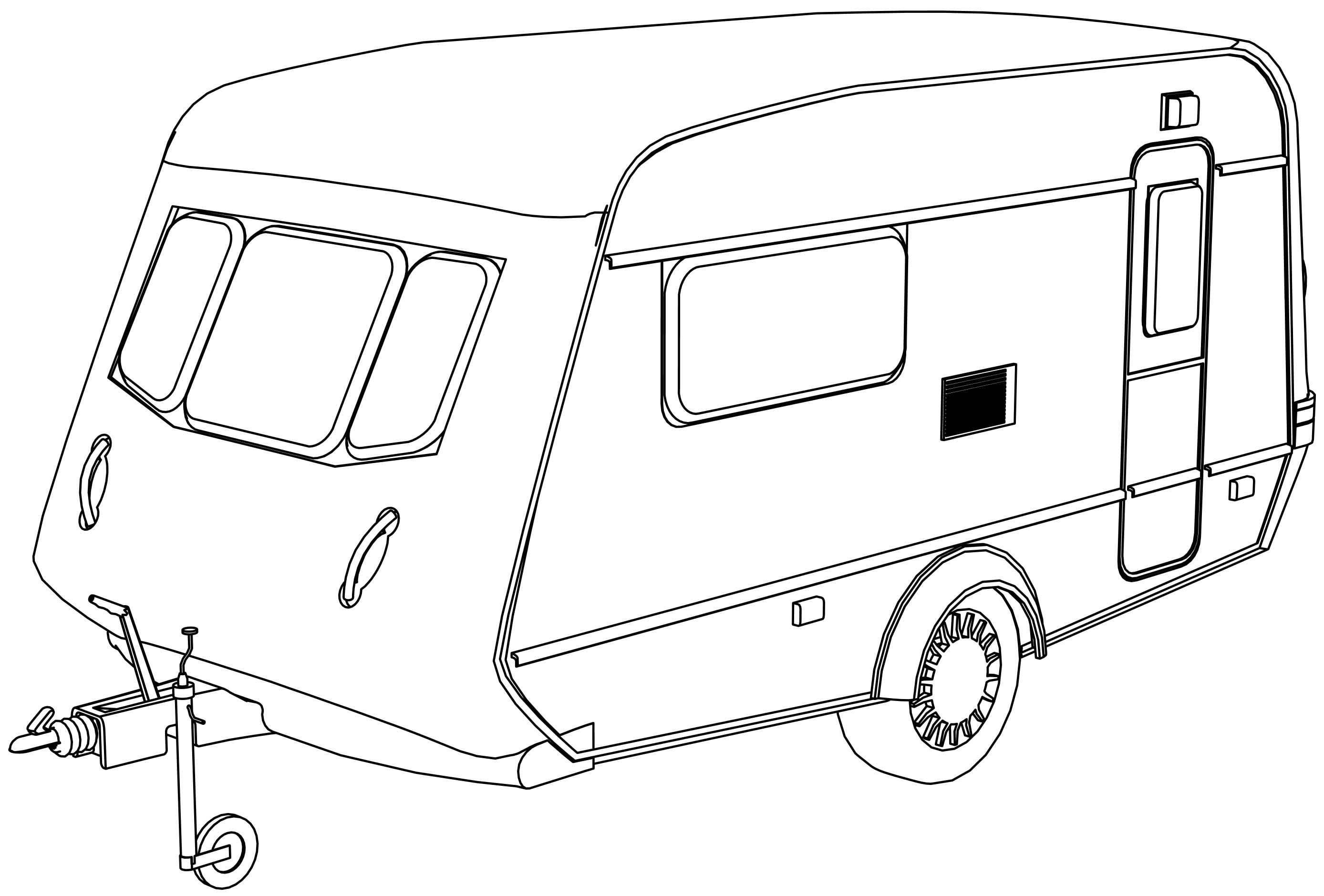 Camper Back Coloring Page | Wecoloringpage.com