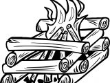 Campfire Fire Gif Coloring Page