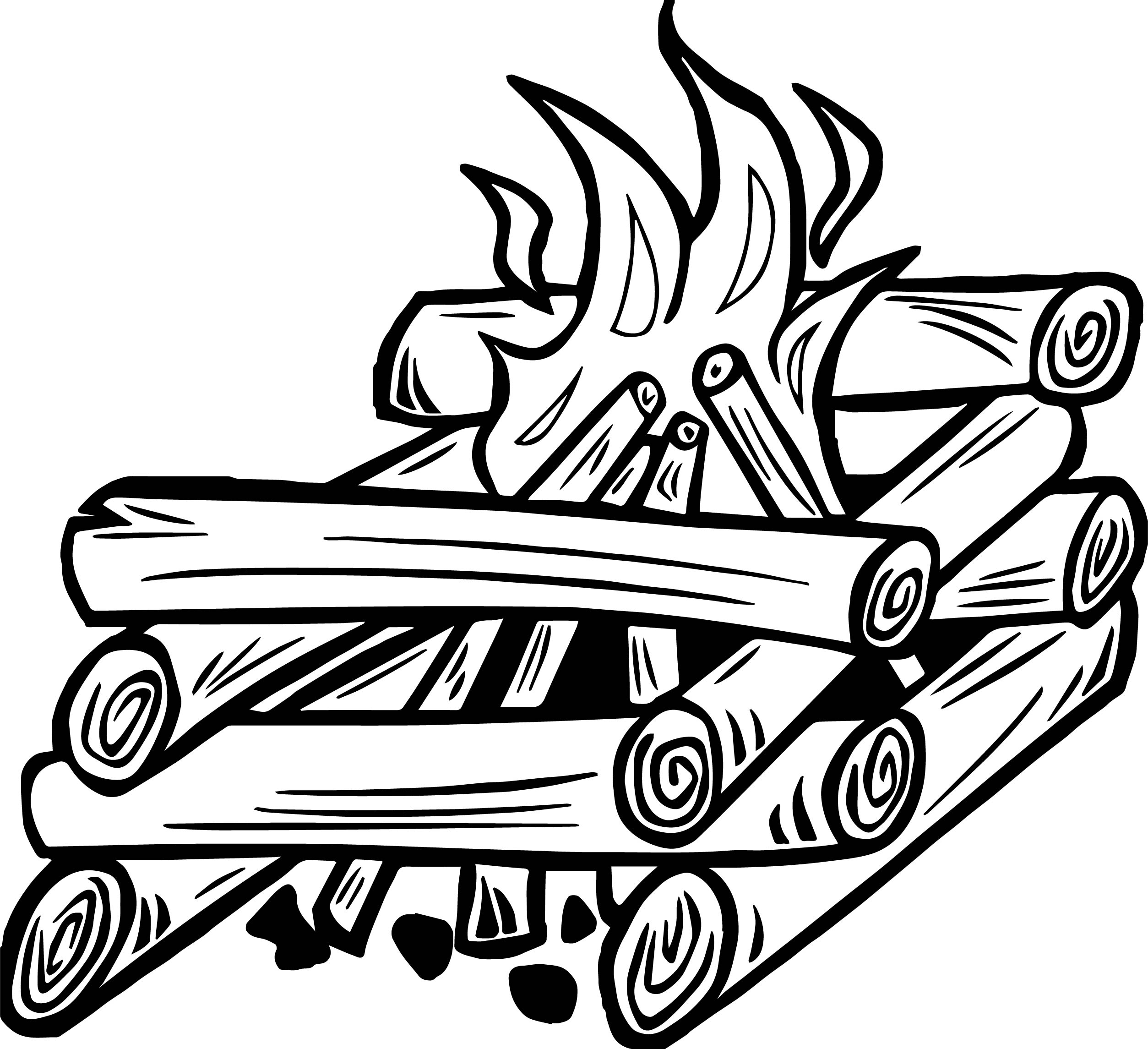 Campfire Fire Gif Coloring Page | Wecoloringpage.com