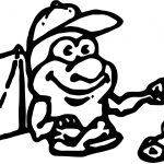 Camping Camping Cartoon Boy Coloring Page