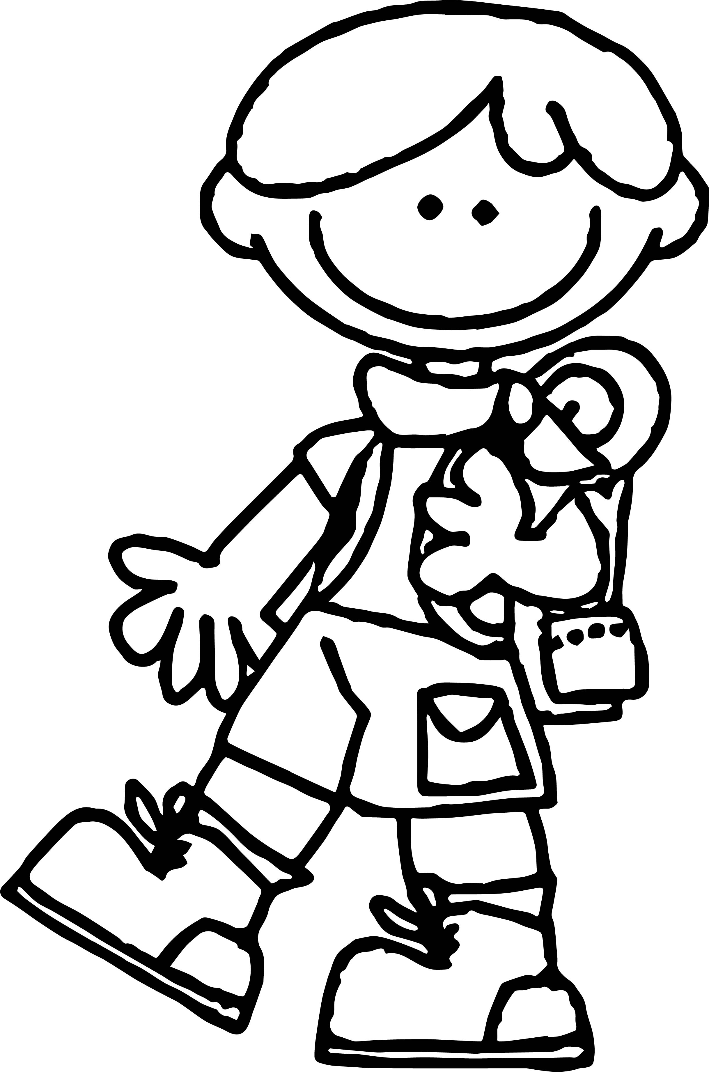 Camping Come Boy Coloring Page | Wecoloringpage.com