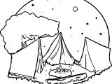 Camping Night Coloring Page