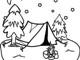 Camping Night Stars Coloring Page