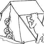 Camping With Bears Camping Coloring Page