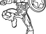 Captain America Kick Coloring Page