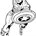 Captain America Punch Coloring Page