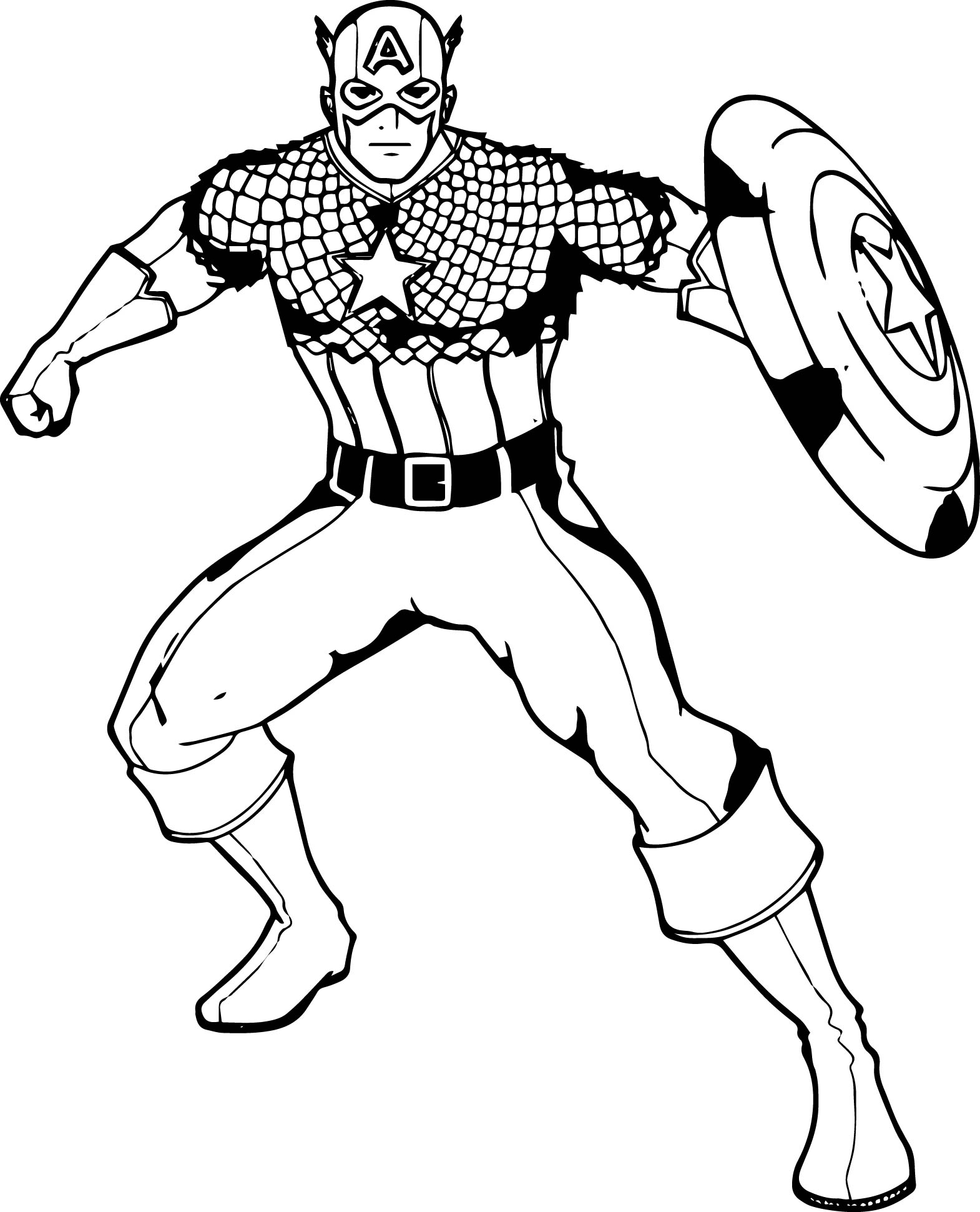 Captain America Waiting Coloring Pages