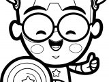 Captain Chibi Smile Coloring Page