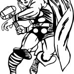 Captain Thor Coloring Page