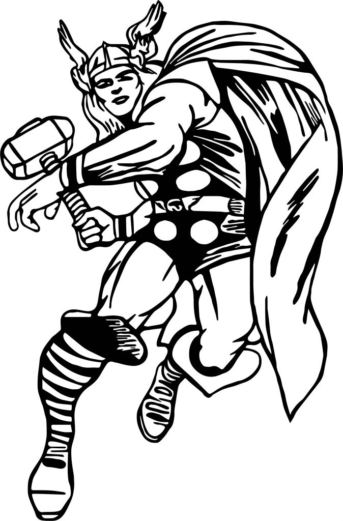 Captain Thor Coloring Page Wecoloringpage