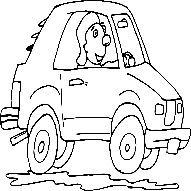 Car Stock Photo Driving Man Coloring Page
