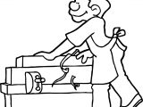 Carpenter Waiting Coloring Page