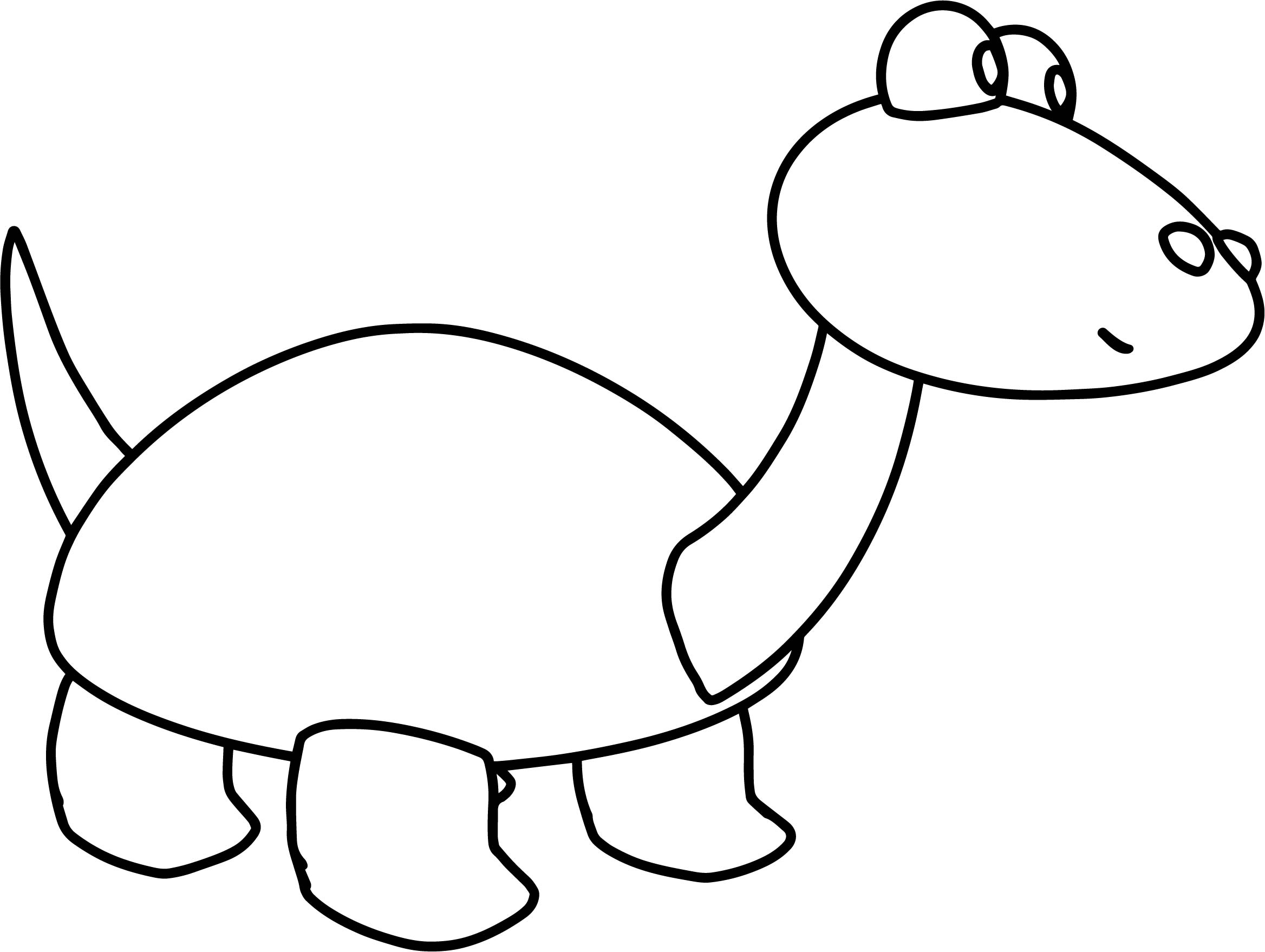 Cartoon Turtle Basic Easy Children Coloring Page Sheet
