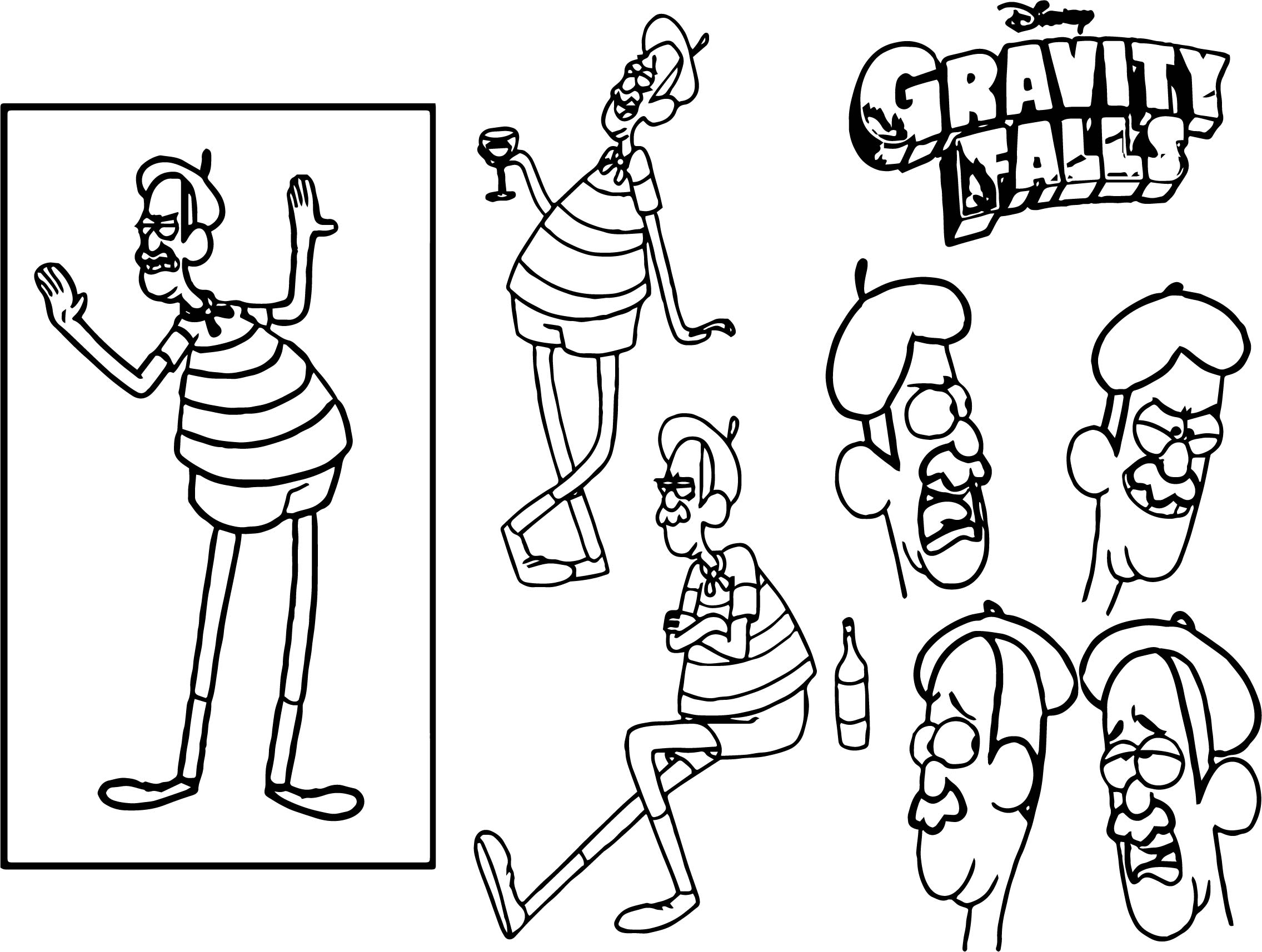 Gravity Falls Personajes Para Colorear: Character Design Assignment One Gravity Falls Coloring