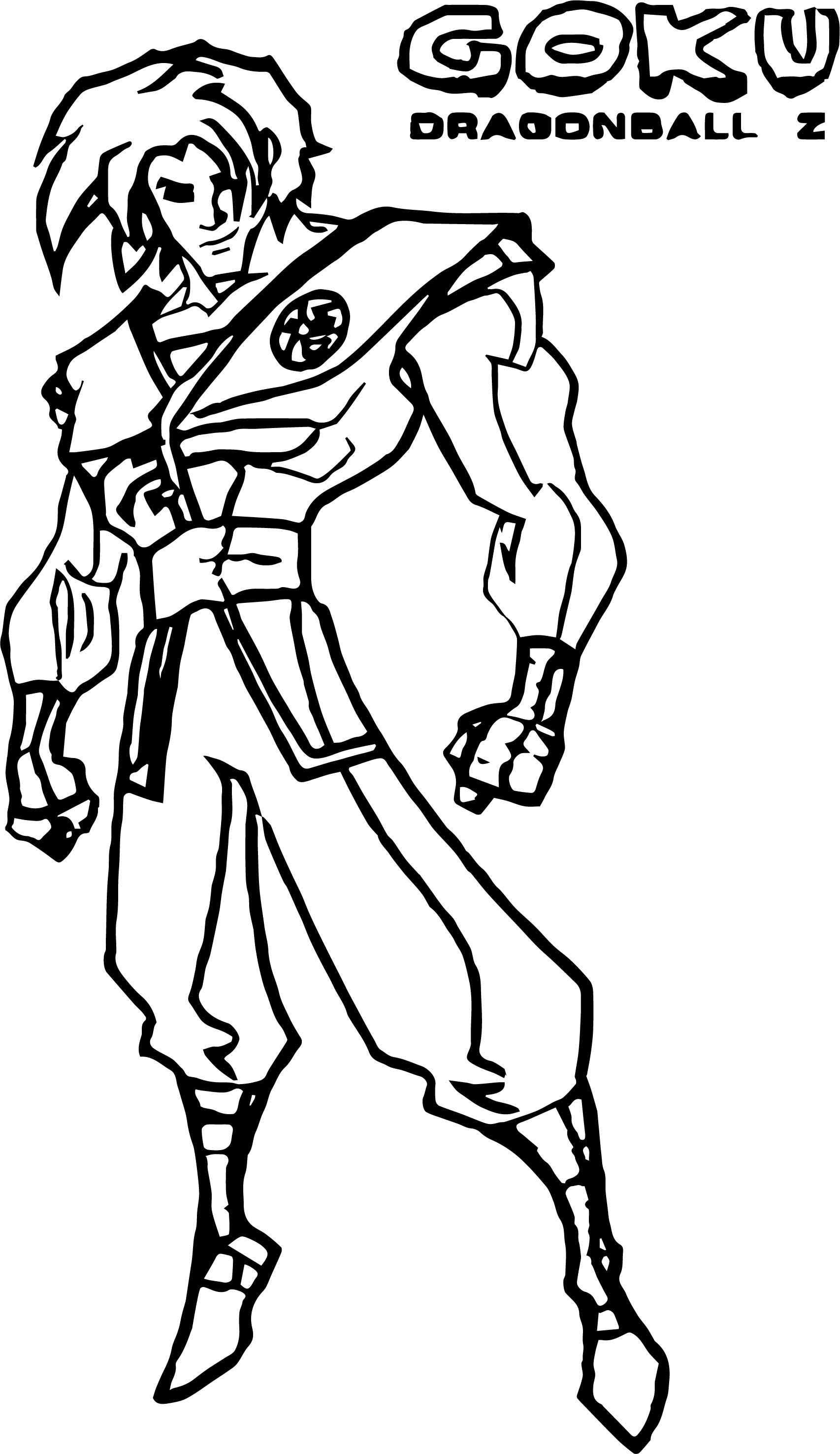 Color In Character Design : Character design goku coloring page wecoloringpage