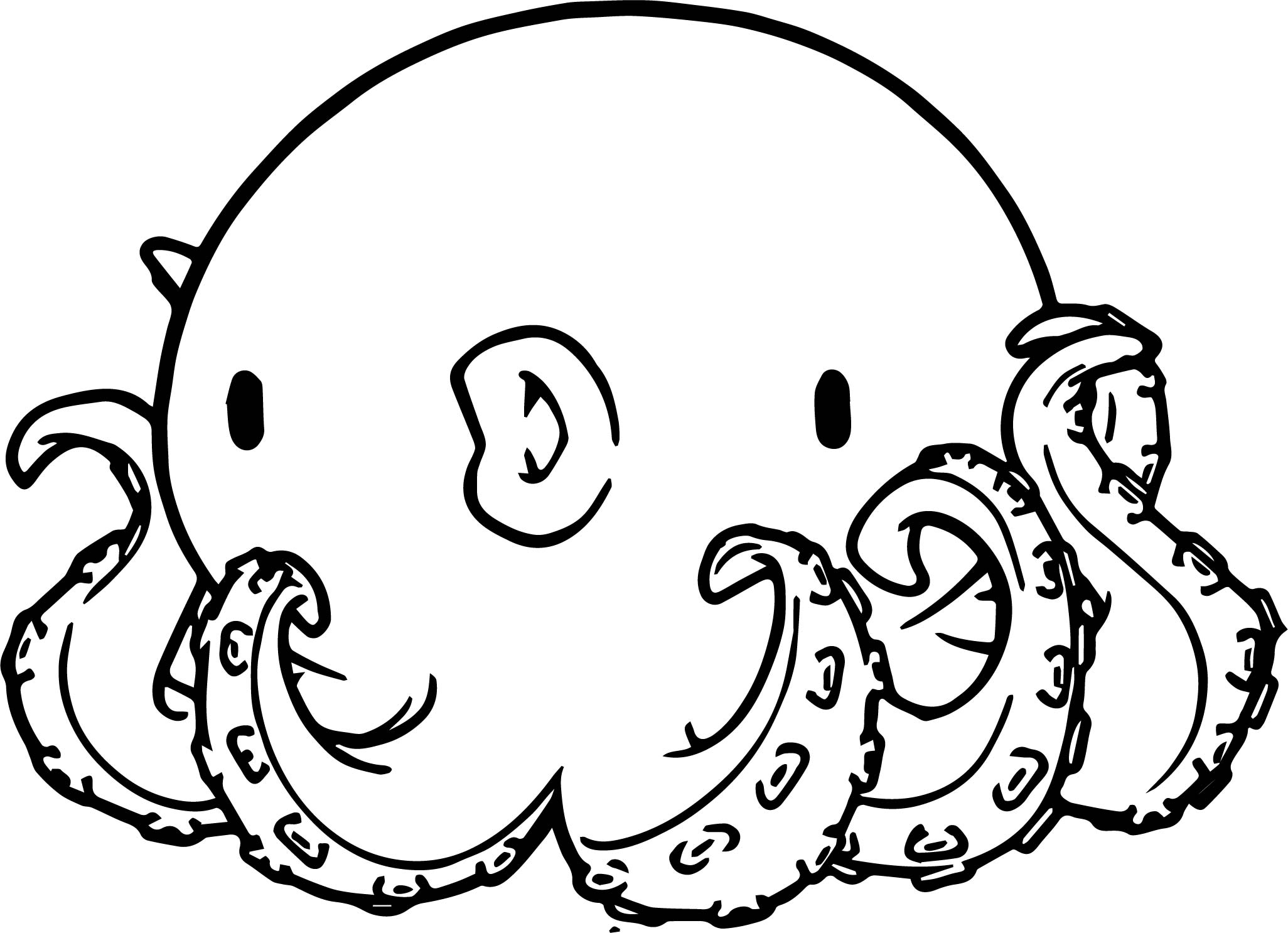 Character Designs Octopus Coloring Page