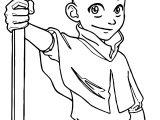 Character Large X Aang Avatar Aang Coloring Page