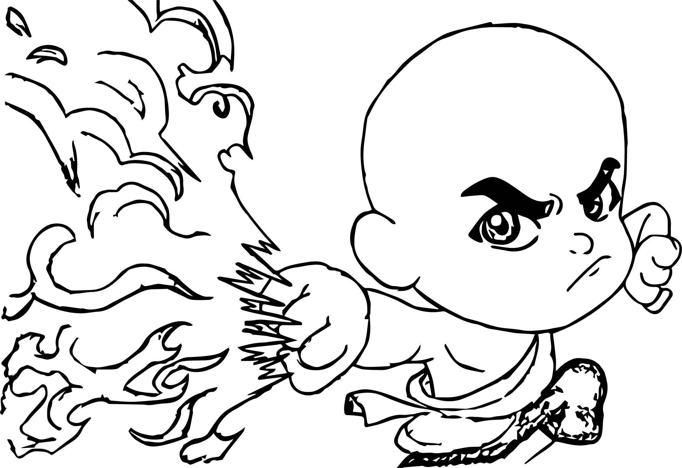 Chibi Aang Into The Inferno A Yellow Ba Cake Avatar Aang Coloring Page