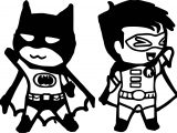Chibi Batman And Robin Coloring Page