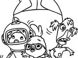 Chicken Little Family Coloring Page