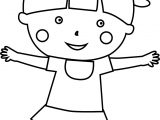 Child School Girl Coloring Page