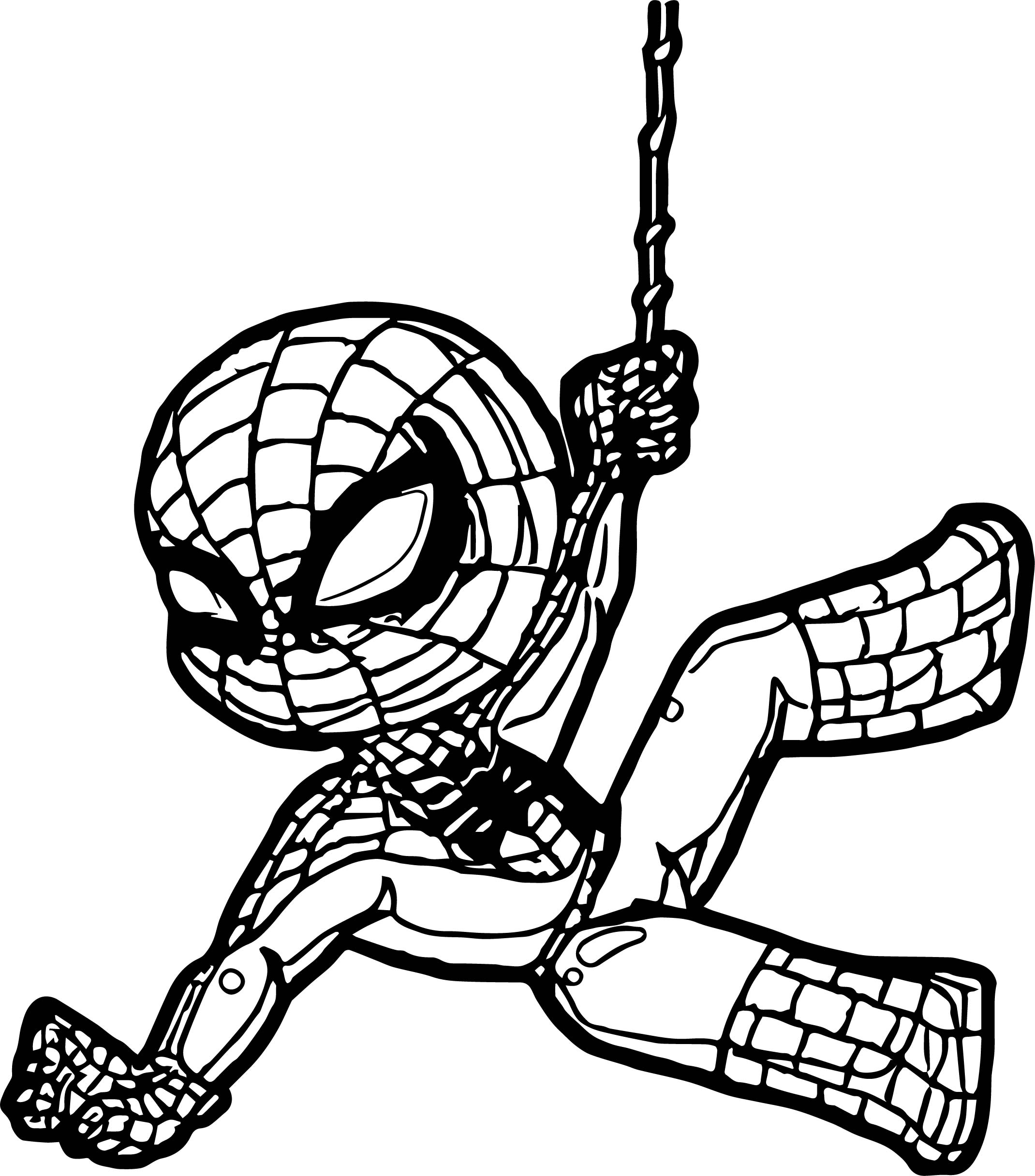 spiderman color page - child spider man coloring page