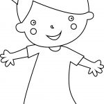 Child Walking Girl Coloring Page