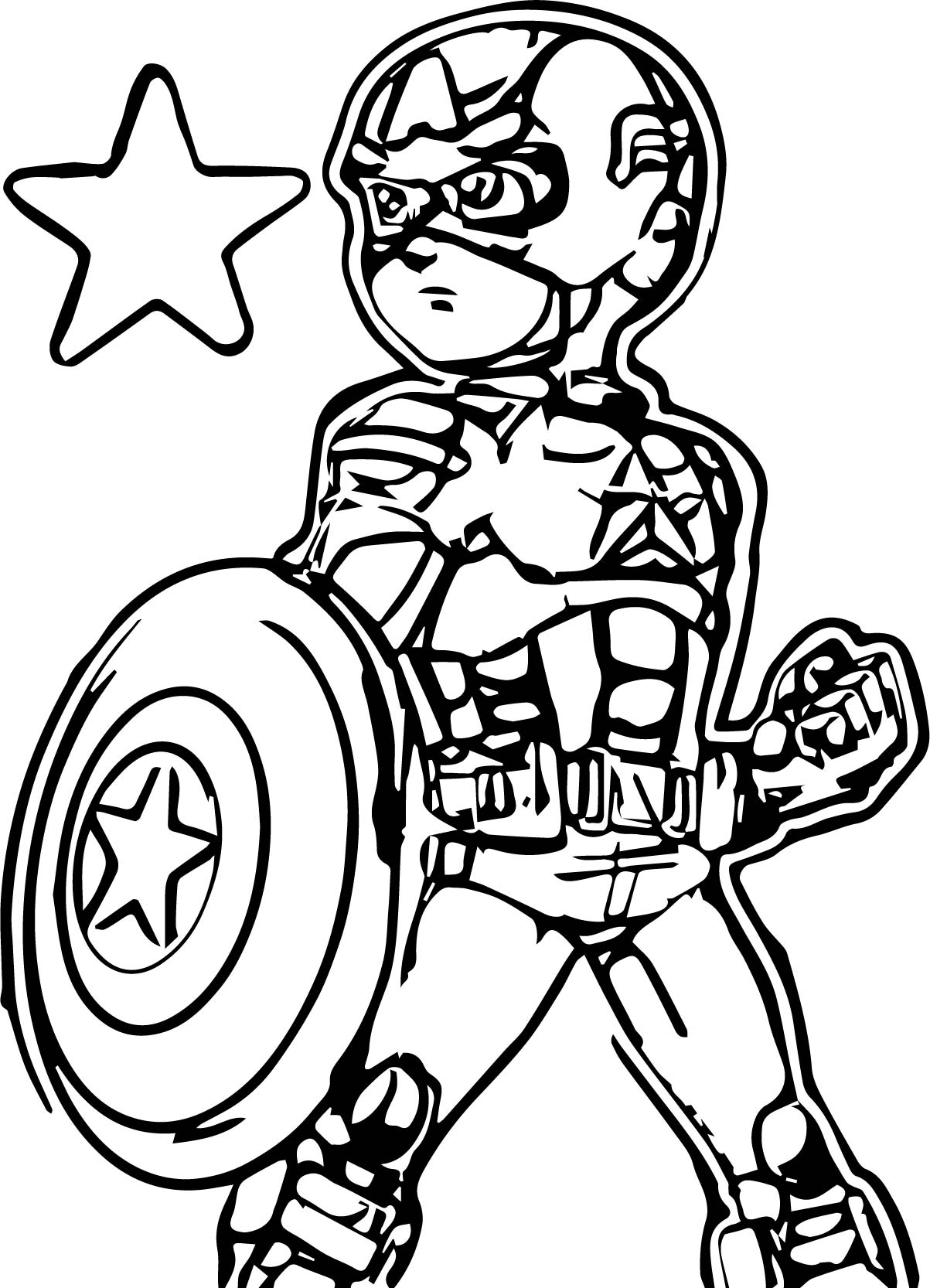 Children captain america coloring page for Coloring pages captain america