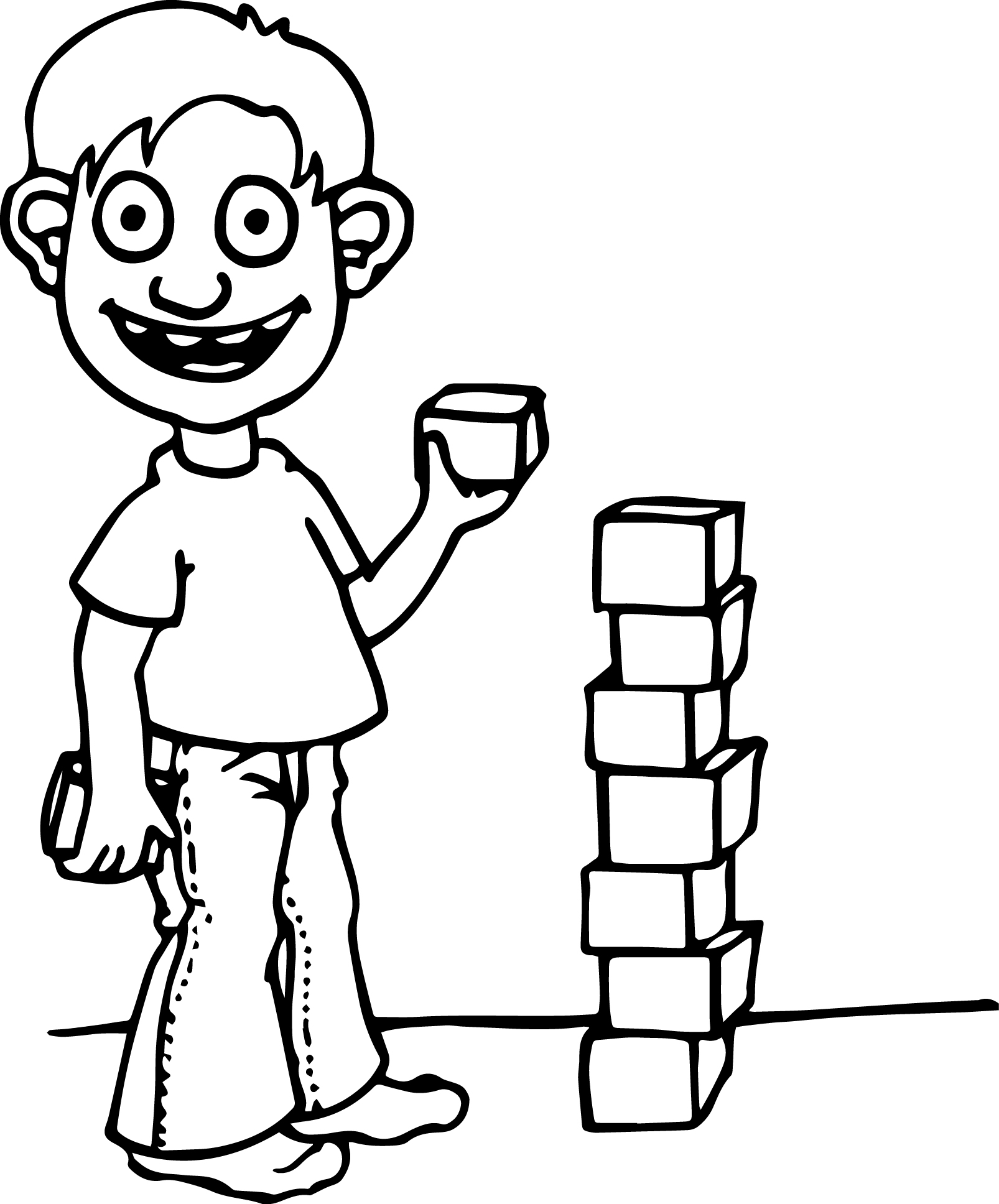 Children To String Box Coloring Page