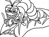 Cicada Hungry Cartoon Funny Coloring Page